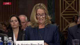 'I am no one's pawn,' Christine Blasey Ford says at Kavanaugh hearing