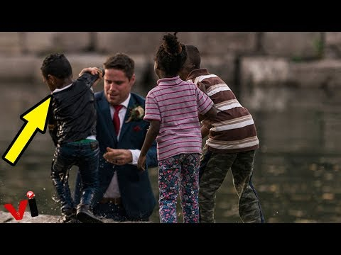 Groom Jumps Into River To Save Little Boy From Drowning On Wedding Day
