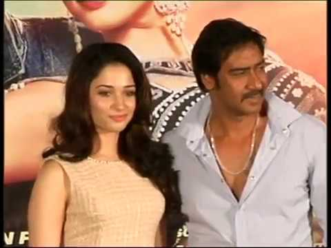 Bollywoodgupshup - Super hot Tamanna goes bold with Himmatwala Ajay Devgan on the launch of Himmatwala trailer. The entire crew was spot super excited about the films trailer l...