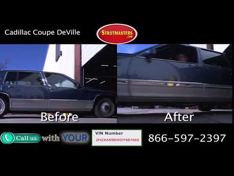 1993 Cadillac Coupe Deville Before and After Suspension Conversion
