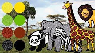 Video Wild Zoo Animals for Kids, Learn Names and Sounds | Giraffe, Elephant, Lion, Zebra, Panda MP3, 3GP, MP4, WEBM, AVI, FLV Januari 2019