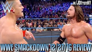 Nonton Wwe Smackdown 12 27 16 Review  Results   Reactions  John Cena Vs Aj Styles Set For The Royal Rumble Film Subtitle Indonesia Streaming Movie Download