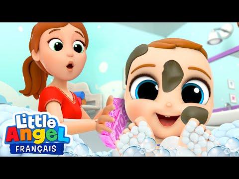 Je ne veux pas prendre un bain - Comptines pour Bébé   Little Angel Français