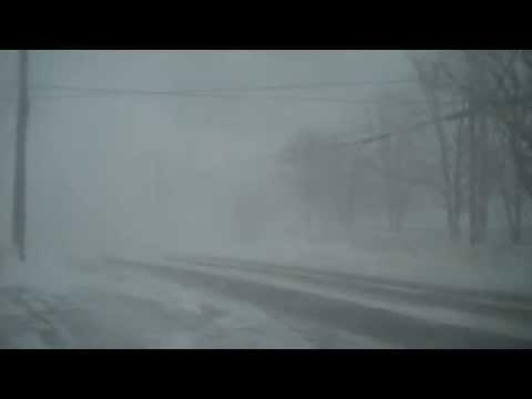Meteghan, Nova Scotia - Winter Blizzard Feb 15 2015. Time: Noon.