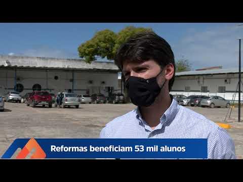 REFORMAS EM ESCOLAS BENEFICIAM MAIS DE 50 MIL ALUNOS