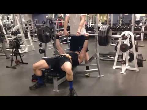 455 x 1 paused bench press.