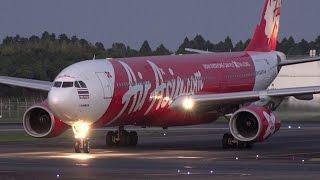 Video Thai Airasia X Airbus A330-300 HS-XTA Landing and Takeoff [NRT/RJAA] MP3, 3GP, MP4, WEBM, AVI, FLV Juli 2018