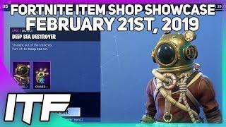 Fortnite Item Shop *NEW* DEEP SEA DESTROYER SET! [February 21st, 2019] (Fortnite Battle Royale)