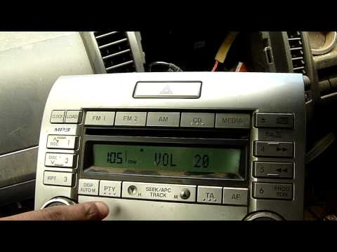 FORD RANGER CD/MP3 PLAYER PANASONIC US16 66 DSXA/CQ-EM8670TA
