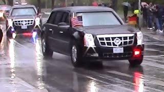 Hannover Germany  City pictures : President Obama's Motorcade / Convoy in Hannover, Germany 24.04.2016