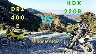 10. Kawasaki KDX 220 VS DRZ 400..Wheeler Pass Hill climb !!!