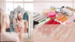 Video HUGE BEAUTY CLEAROUT // DECLUTTERING TIPS AND MAKEUP ORGANISATION MP3, 3GP, MP4, WEBM, AVI, FLV November 2018