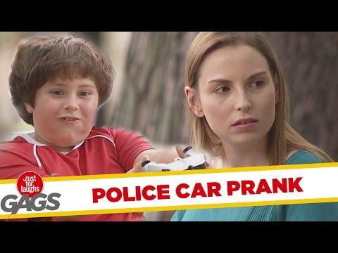 Troll Hài Hước 2015 - Kid Messing With Police Car