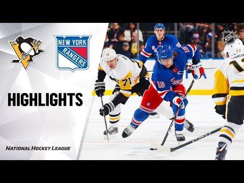 NHL Highlights  Penguins  Rangers 111219