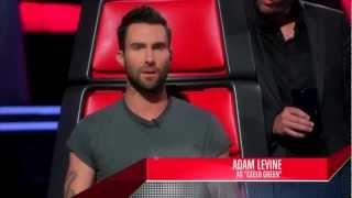 Adam Levine imitates the coaches - The Voice