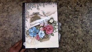 Free step by step, start to finish, mini album scrapbook album tutorial on how to make this 8-1/2 x 6-1/2 mini album using Designs by Shellie Country Affair paper ...