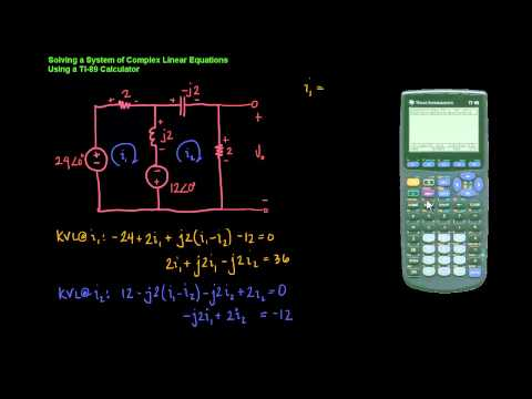 Using A Ti-89 To Solve Systems Of Complex Linear Equations