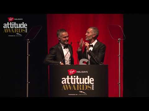 Dean and Dan Caten aka DSquared2 accept Attitude's Style Award