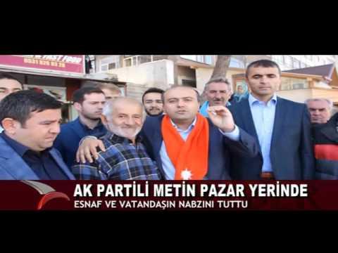 AK PARTİLİ METİN PAZAR YERİNDE