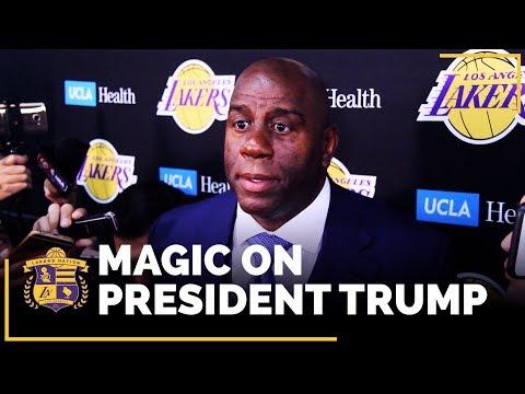 Video: Magic Johnson On President Trump's Comments