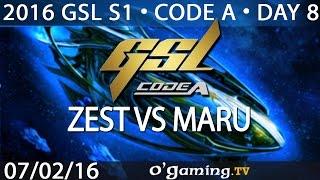 Zest vs Maru - PvT - 2016 GSL S1 Code A - Day 8