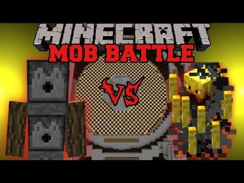 Blaze Vs. Arrow Golem - Minecraft Mob Battles