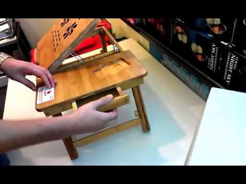 Видео Столик бамбуковый для ноутбука Bamboo