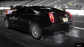 2013 Cadillac CTS-V Coupe - Acceleration Drag Test Video - Launch, 0 - 60 1/4 Mile