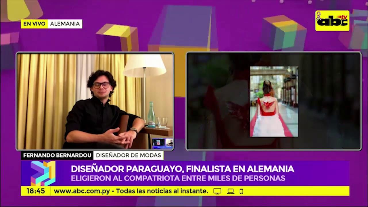 Diseñador paraguayo, finalista en Alemania