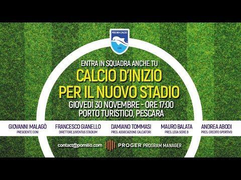 Pescara Arena, tanti ospiti illustri per la presentazione del nuovo stadio VIDEO