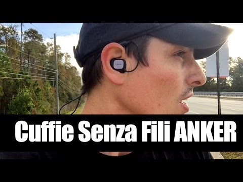 Anker Cuffie Bluetooth Senza Fili per la corsa SoundBuds Sport Recensione Review Test Running