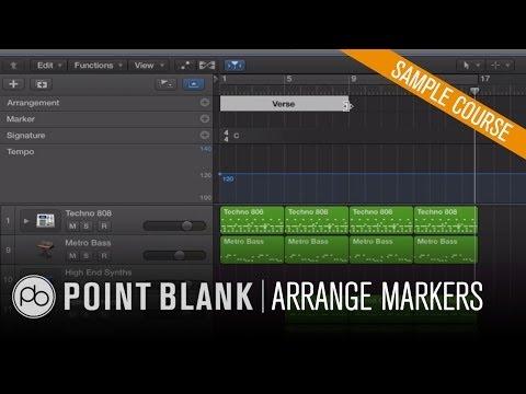 Using Arrange Markers in Logic Pro X