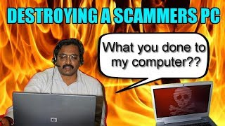 Video Destroying  Scammers Computer With Virus MP3, 3GP, MP4, WEBM, AVI, FLV Juli 2018