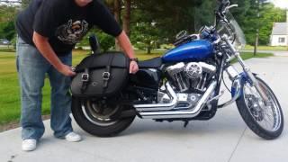 9. 2007 Harley-Davidson Sportster 1200 Custom Motorcycle Saddlebags Review - vikingbags.com