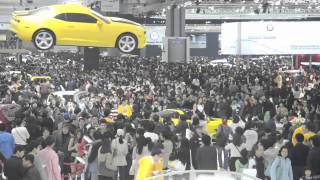 The Flying Chevrolet Camaro might have been the most photographed object at the 2011 Auto Show in Seoul. GM Korea loved it and we did our best to keep it floating nicely  over the mass of spectators. http://www.gearfactor.com.hk