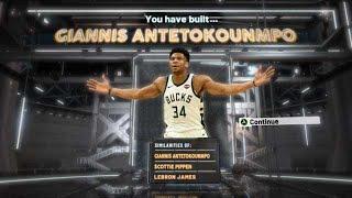 NBA2K20 GIANNIS ANTETOKOUNMPO BUILD - DEMIGOD BUILD 2K20