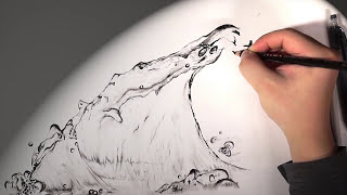 Water Waves Drawing - [Jung Hyun Lee] - [HD](Music) pencil drawing, time-lapse, graphite