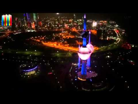 Kuwait Towers Lighting Show 2015