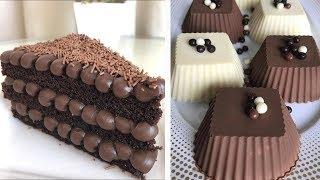 Homemade Chocolate Cake With Milk Cream Recipes | The Best Chocolate Cake Decorating Recipes Ideas