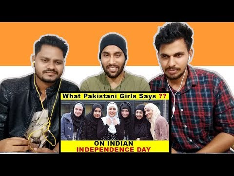 Indian Reaction On What Pakistani Girls Say on Indian Independence Day   Krishna Views