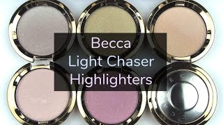 """Becca's 6 new shifting highlighters!*Available here: http://bit.ly/2sVuqYgSwatch Photos: http://wp.me/p1jkff-jgxBLOG SALE: http://bit.ly/1dGiNtFhttp://www.allurabeauty.comPaula's Choice (best skincare): http://goo.gl/r9cy4o Ebates cash-back: http://bit.ly/1kQ83tMhttp://www.allurabeauty.comTwitter: http://twitter.com/allurabeautyFacebook: http://www.facebook.com/allurabeautyPinterest: http://pinterest.com/allurabeauty/All links are provided for your convenience.  If there is a """"*"""" next to the link, it is an affiliate link."""