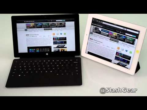 Surface - SlashGear reviews the Surface RT and compares it with the iPad 3.