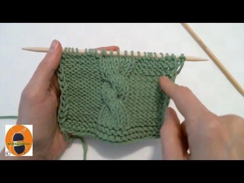 Stricken wir! Muster 5 – Einfaches Zopfmuster nach links