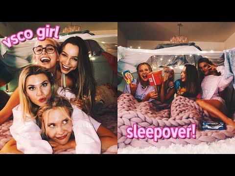 throwing the ultimate VSCO girl sleepover...
