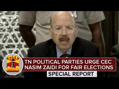 TN-Political-Parties-urge-CEC-Nasim-Zaidi-for-Fair-Elections-Special-Report-Thanthi-TV