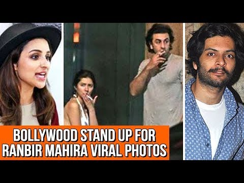 BOLLYWOOD Reacts On Ranbir Kapoor And Mahira Khan'