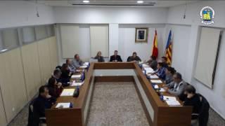 Sessió ordinària del ple de l'Ajuntament de Xeraco corresponent al mes novembre  de 2016