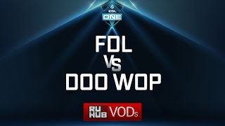 FDL vs Doo Wop, ESL One Genting Quals, game 1 [Mila]