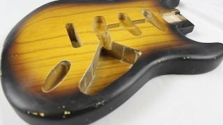 Video B Hefner / MJT Relic Aged Strat body - Unboxing 2 Tone Sunburst MP3, 3GP, MP4, WEBM, AVI, FLV Juni 2018