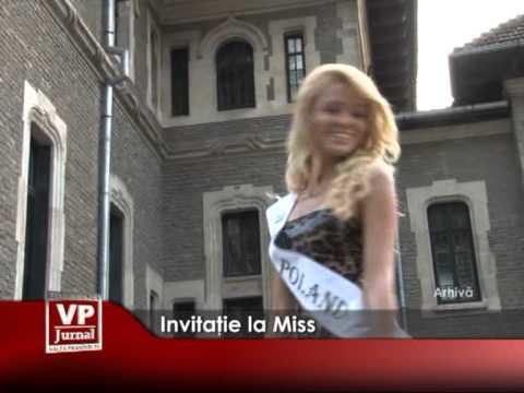 INVITATIE LA MISS